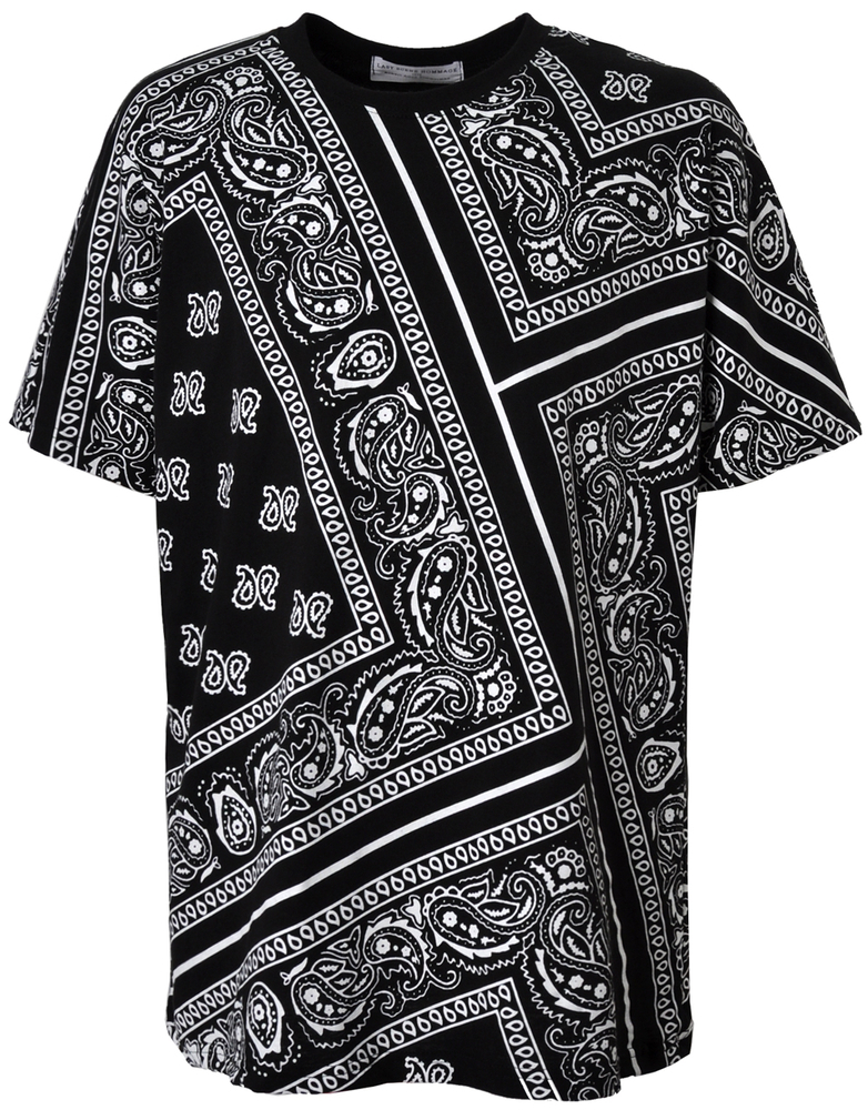 A paisley bandana shirt features the popular and fashionable print with either large or small paisleys. Designs with swirls, flowers, and zigzag patterns are also available. If you want to create a look that is a blast from the past, choose a vintage bandana shirt that mimics the look of a s style button-up blouse or a s nautical print.