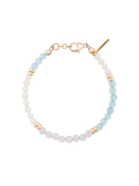 Nialaya Jewelry beaded bracelet women beaded gold blue coral jewels
