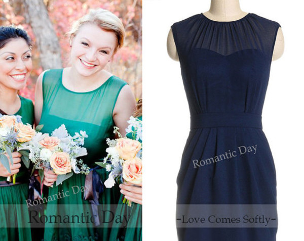 dress dress like new girl 2014 full length hill model ball bridesmaid
