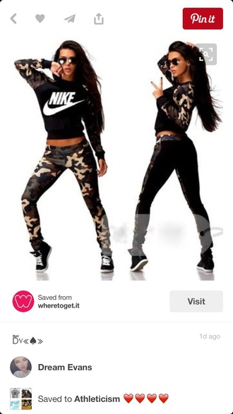 pants camouflage nike shoes