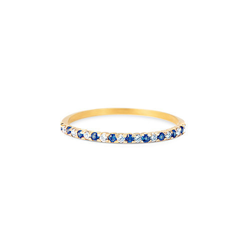 Band ring with diamond / gemstone band ring / midi ring / knuckle ring / perfect gift / gift for women