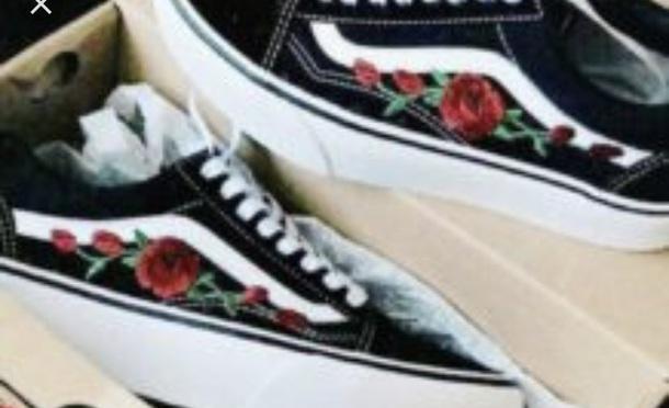 shoes vans sneakers flower