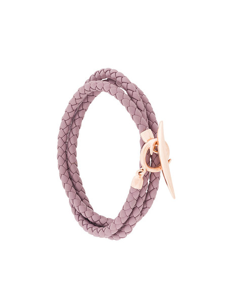 SHAUN LEANE rose gold rose women gold silver leather purple pink jewels