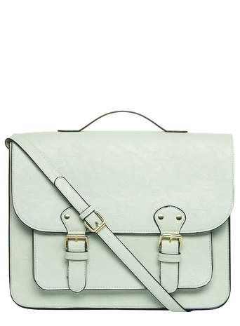 Mint buckle satchel bag - Dorothy Perkins