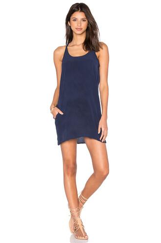 dress mini dress mini back silk navy