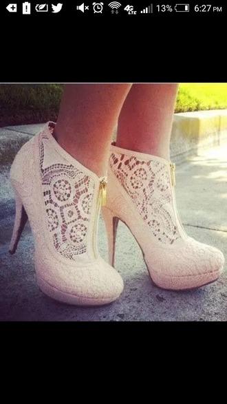 shoes light mint green mint white zip homecoming heels high heels lace heels light pink soft pink cream prom heels