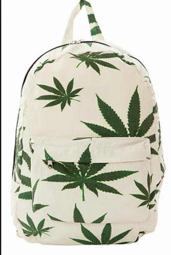 239a0b8654 Christmas Fashion Backpack new plantlife weed leaf backpack HUF ...