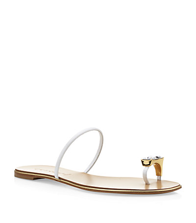 Casadei Cleeves Leather Sandal | Harrods