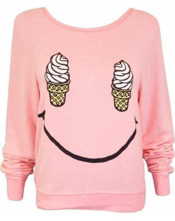 sweater cute pink ice cream