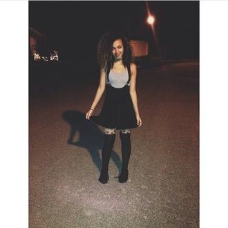 skirt dress straps black dress black tights