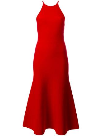 dress halter dress women lace red