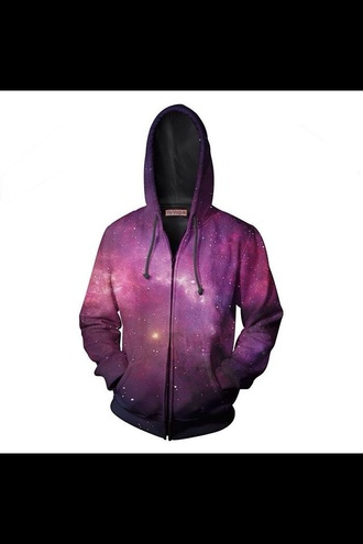shirt hoodie galaxy print clothes fashion t-shirt zip sweater style sweatshirt 3d sweatshirts purple sweater top tank top