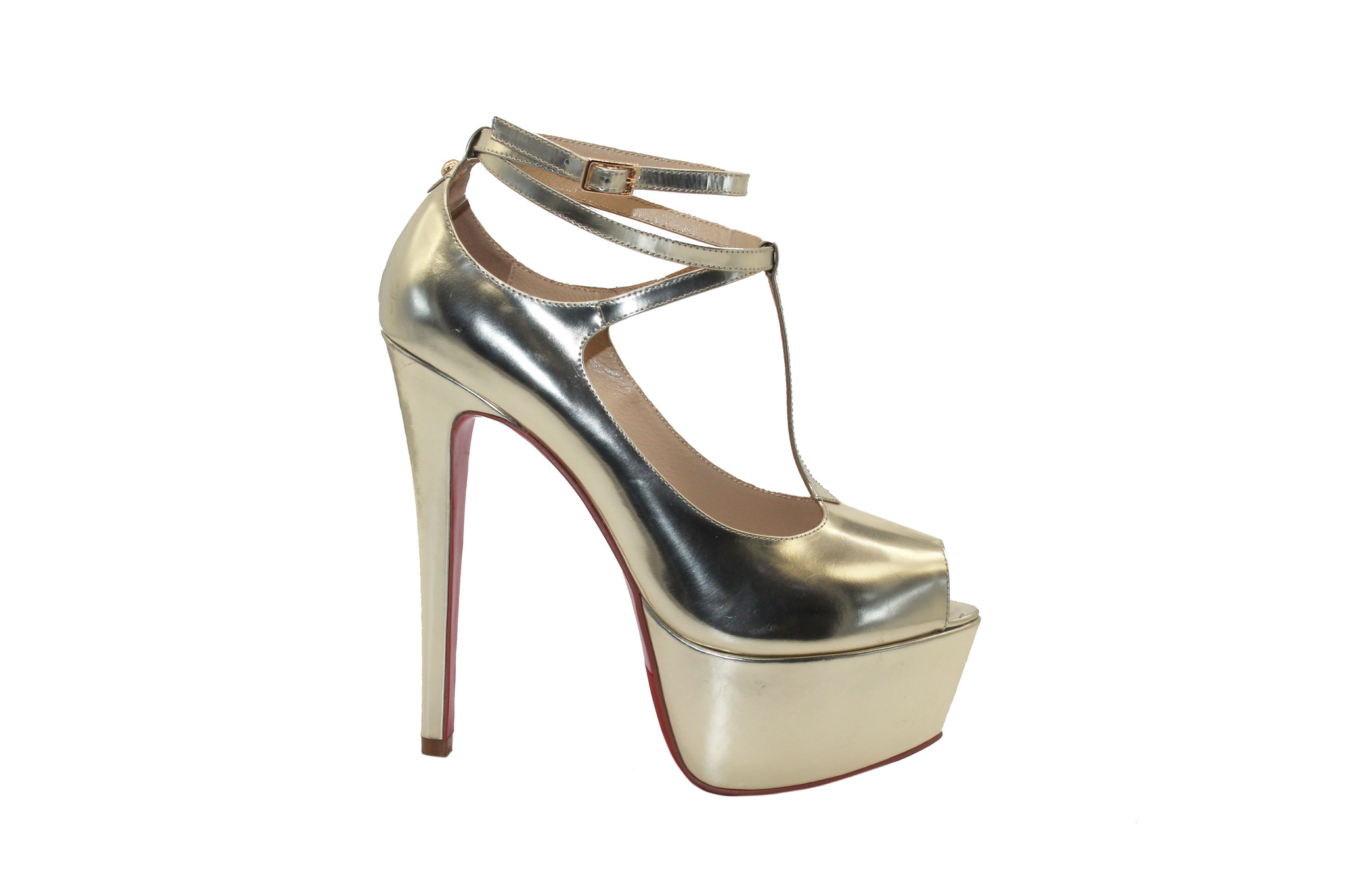 Gold 6 Inch Platform Heels
