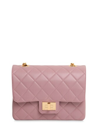 quilted bag shoulder bag light pink light pink