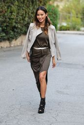 dress,jamie chung,maxi dress,fall outfits,forest green