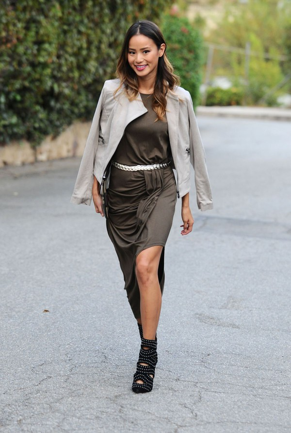 dress jamie chung maxi dress fall outfits forest green