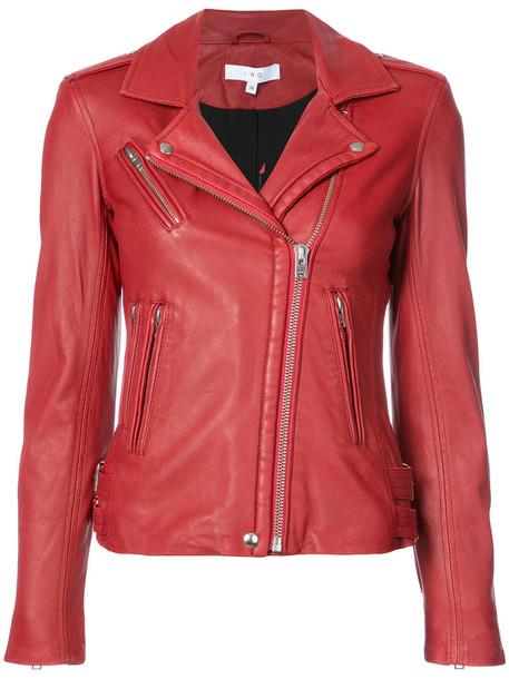 Iro jacket biker jacket women classic red