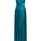 Celeste v-neck silk-tulle gown