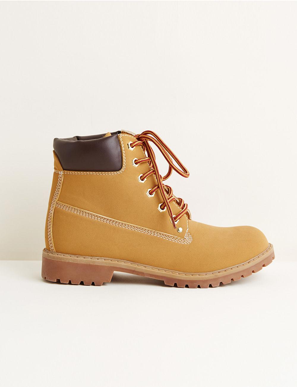Rangers simili cuir beiges - Jennyfer e-shop