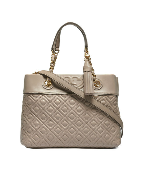 Tory Burch Fleming Small Tote in taupe