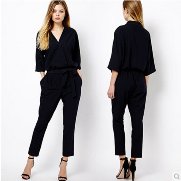 Black Pants Jumpsuit Photo Album - Reikian