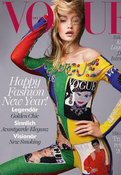 jumpsuit colorful vogue versace gigi hadid model top leggings