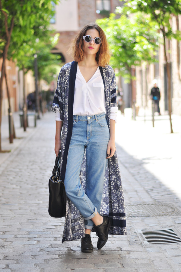 dansvogue blouse jeans sunglasses cardigan