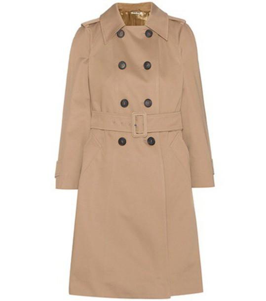 coat trench coat cotton beige