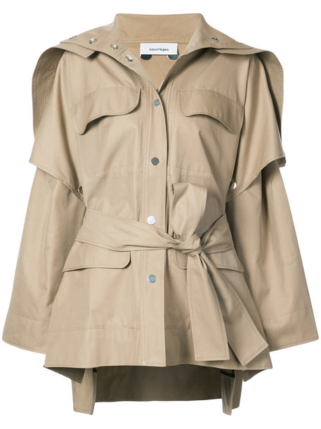 jacket oversized women cotton brown