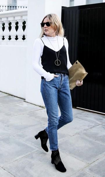 White Shirt Blue Jeans White Shoes