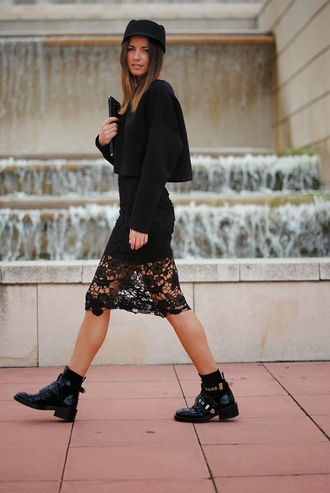 fashion vibe shoes bag sweater hat skirt