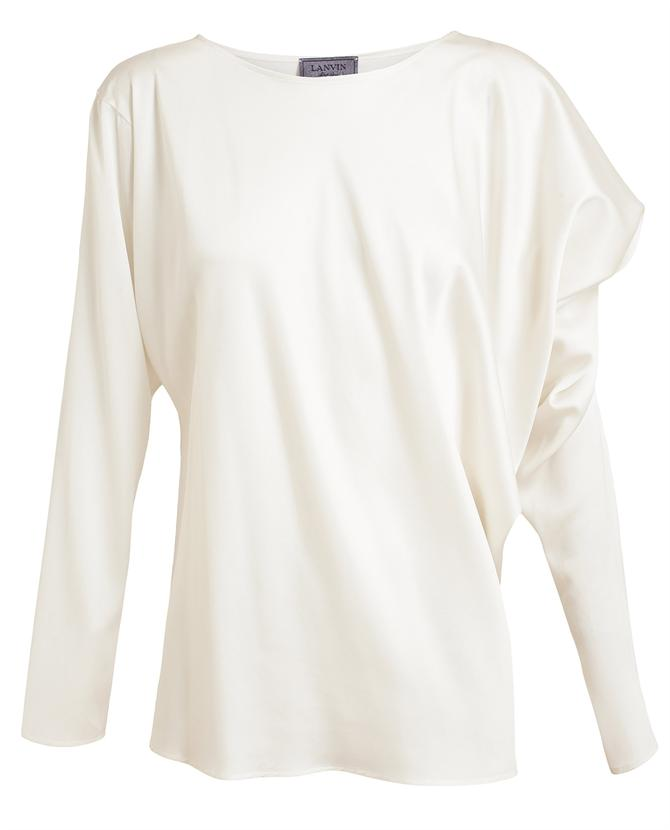 LANVIN | Draped Satin Top | Browns fashion & designer clothes & clothing