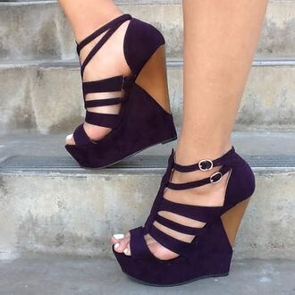 shoes wedges purple sexywedges summershoes