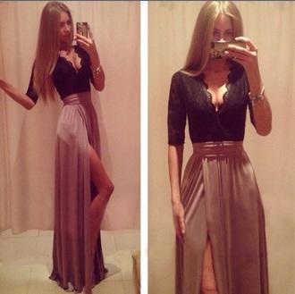 dress maxi dress chiffon chiffon dress vneck dress