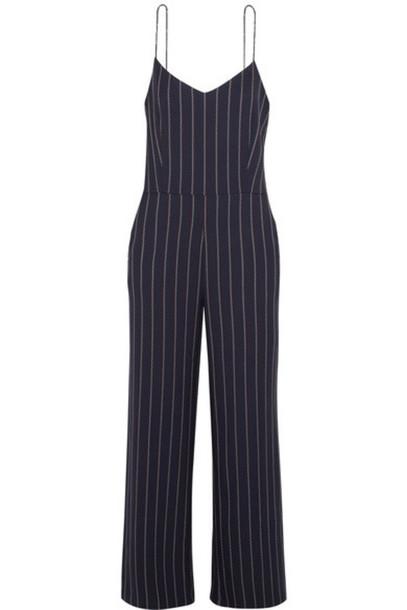 0357c3e12874 GANNI - Oakwood Striped Twill Jumpsuit - Midnight blue - Wheretoget
