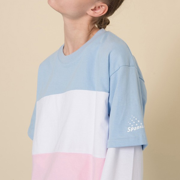 t-shirt blue white pink cute fashion style trendy spring sporty teenagers comfy cool summer boogzel