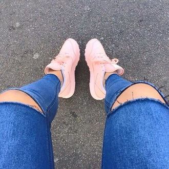 shoes tumblr outfit nike shoes reebok rosa hot nice girls sneakers