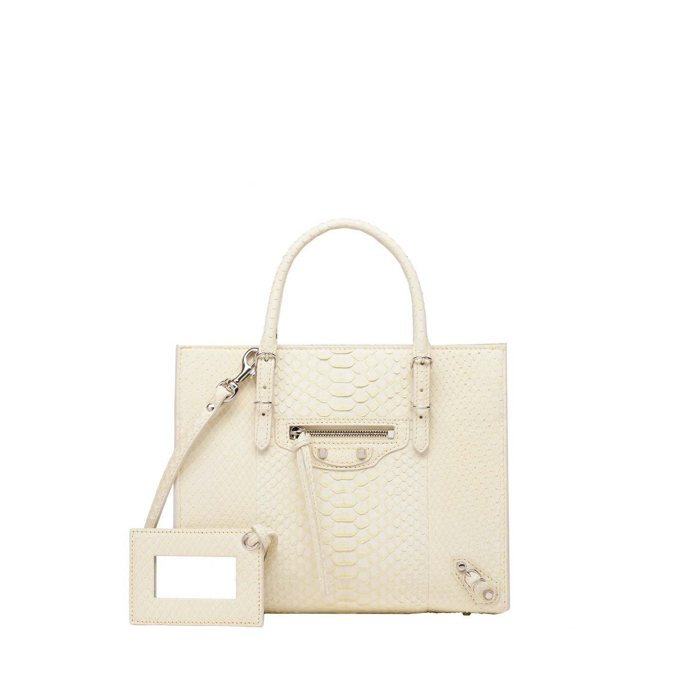 Balenciaga Mini Papier A4 Python Yellow - Women's Papier Exotic Handbag