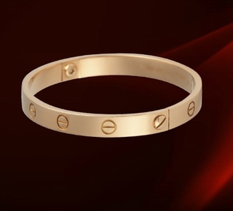 bracelet gold cartier love simple yellow jewels orange jewels jewels