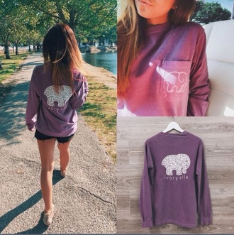 shirt ivory ella elephant elephant print cute long sleeves cotton cottonshirt