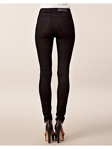 Second Skin Very Stretch Black - Cheap Monday - Zwart - Jeans - Kleding - Zij - Nelly.com