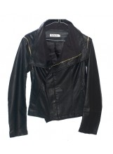 Fitted Leatherette Jacket