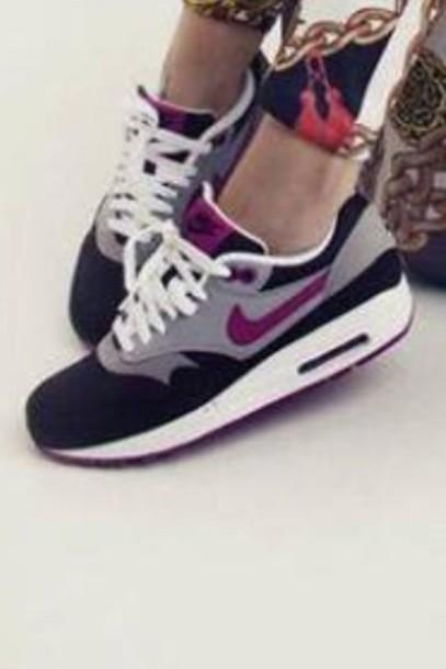 online store 7ac9d d10f6 shoes air max nike air max 1 purple grey black