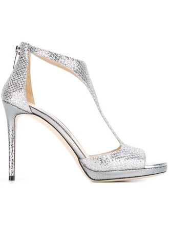 100 sandals metallic shoes