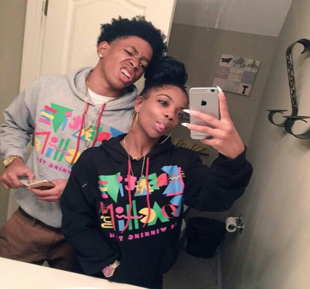 Sweater couple sweaters hoodie cute sweater style freshtops swag top black top gray - Photo couple swag ...