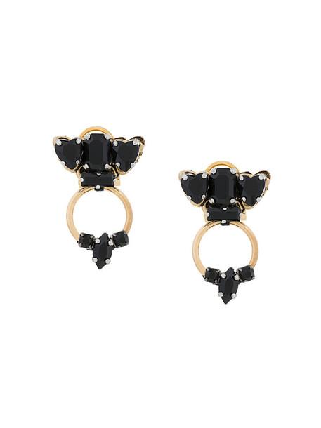 RADÀ women earrings floral black jewels