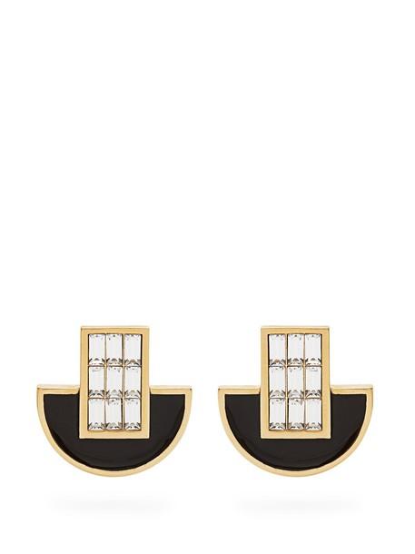 CERCLE AMEDEE owl embellished earrings black jewels