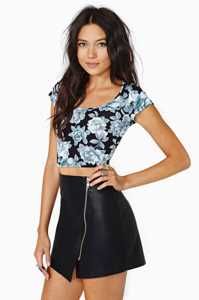 BB Dakota Sebastian Faux Leather Skirt at Nasty Gal