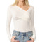 L'agence karlie faux wrap top - ivory