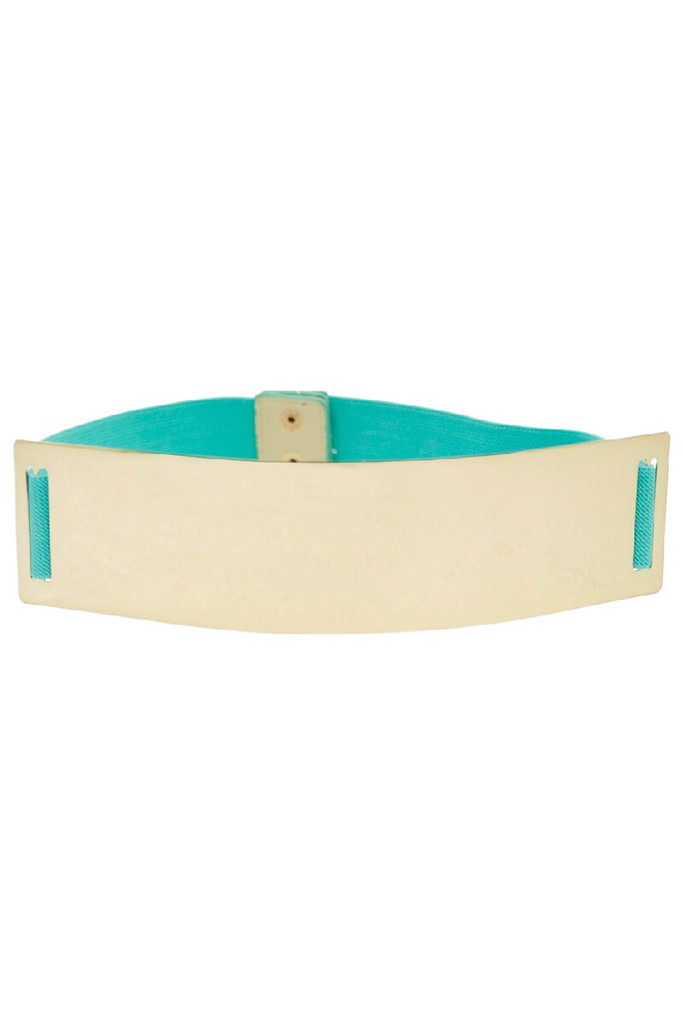 OVERSIZE GOLD PLATED BELT - Mint | Haute & Rebellious